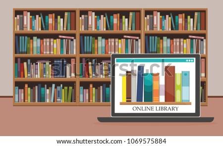bookshelve with books on