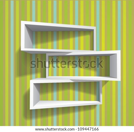 bookshelves (shadows are transparent so shelves can be applied to any background)