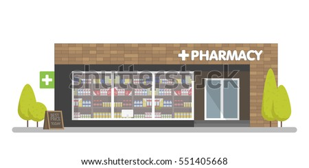 Bookstore Front Vector Illustration banner template