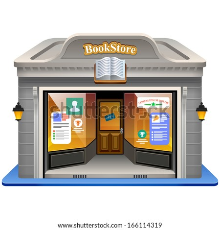 Bookstore. Vector illustration. Eps 10.