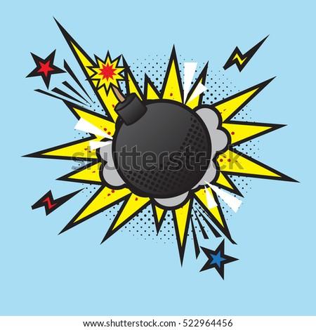 boom bomb blast comic pop art