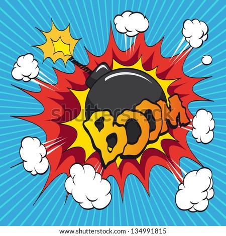 boom bomb comic book explosion