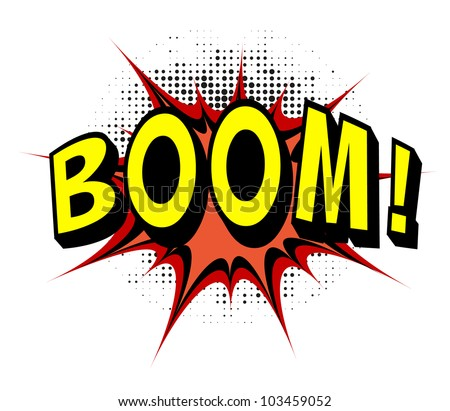 Boom. Comic book explosion. - stock vector