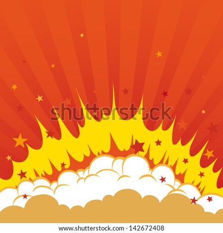 Boom Comic book explosion background