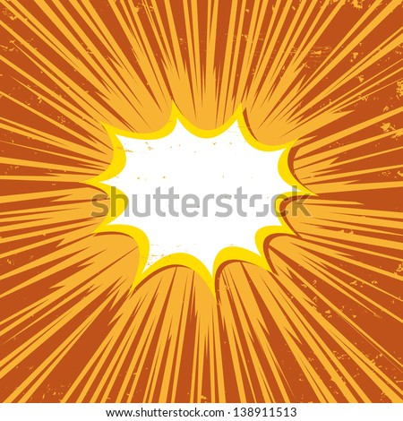 Boom comic book explosion vector illustration
