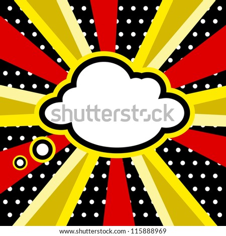 Boom, Pop art inspired illustration of a explosion cloud