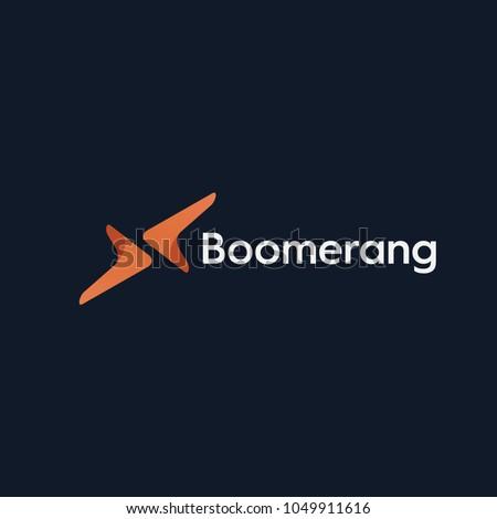 boomerang logo vector Zdjęcia stock ©