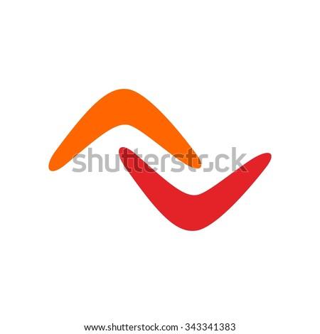 boomerang logo vector. Zdjęcia stock ©