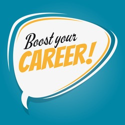 boost your career retro speech balloon