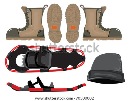 boot and snow shoe set