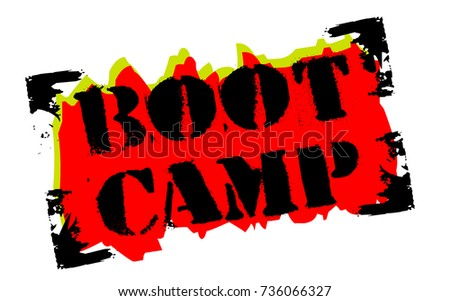 boot camp sticker authentic