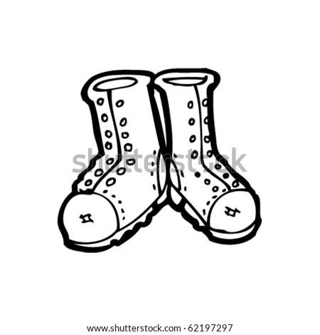 cowboy boots cartoon. stock vector : oots cartoon