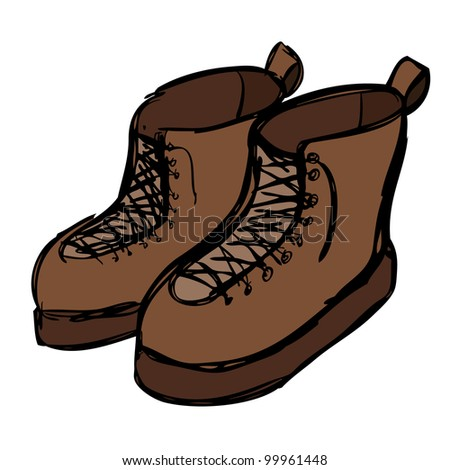Boots cartoon illustration design vector design