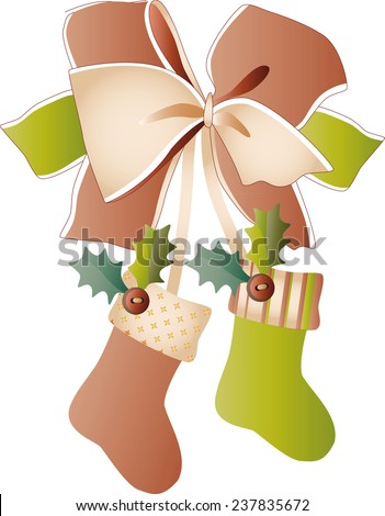 boots for christmas vector