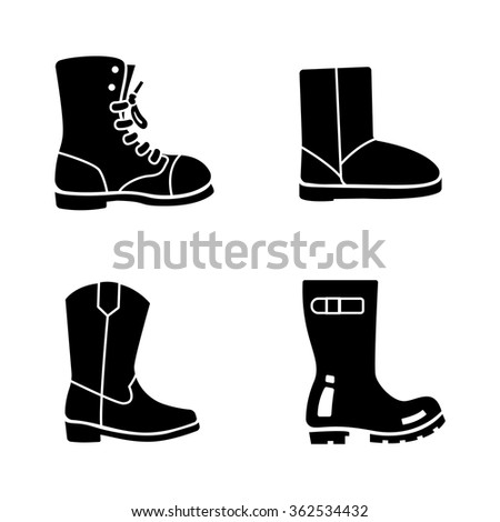 boots vector icons