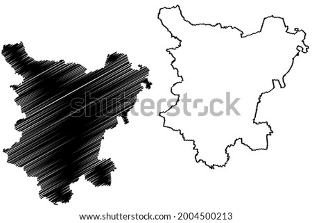 Borde district (Federal Republic of Germany, rural district, Free State of Saxony-Anhalt) map vector illustration, scribble sketch Borde map Photo stock ©