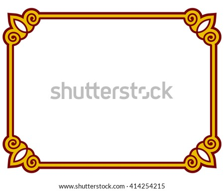 Vector Images, Illustrations and Cliparts: Border frame deco plaque ...