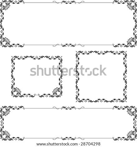 Border, Frame Designs Stock Vector Illustration 28704298 ...  Shutterstock Border Design Free Download