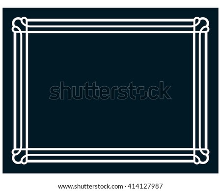Border frame line deco vector label simple #414127987