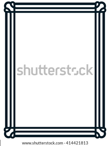 Border frame line deco vector label simple #414421813