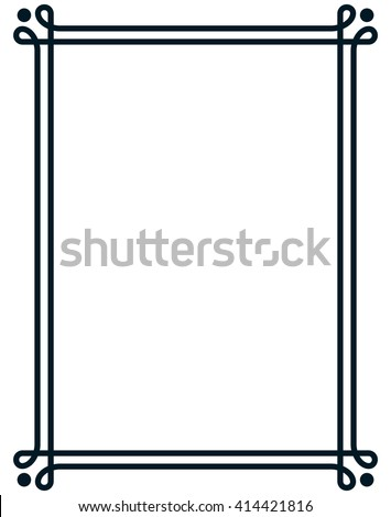 Border frame line deco vector label simple #414421816