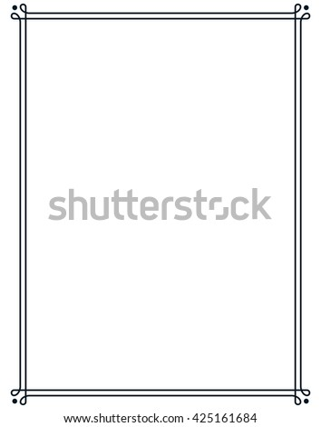 stock-vector-border-frame-line-deco-vector-label-simple