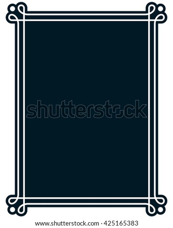 Border frame line deco vector label simple #425165383
