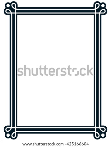 Border frame line deco vector label simple #425166604