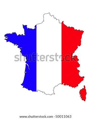 France Flag Border