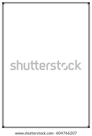 Vector Images Illustrations And Cliparts Border Line Page Vector