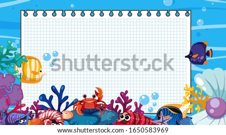 border template with underwater