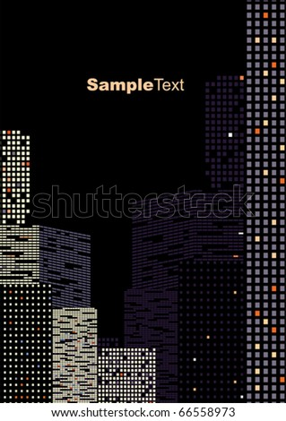 bordered background of city