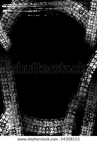 Bordered background with tracks
