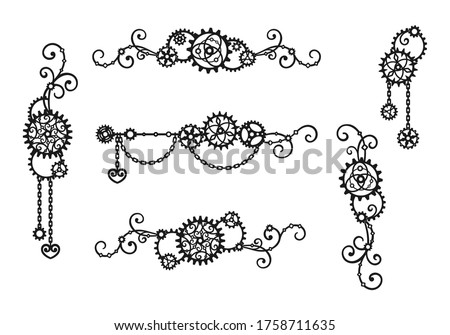 borders and frames of gears