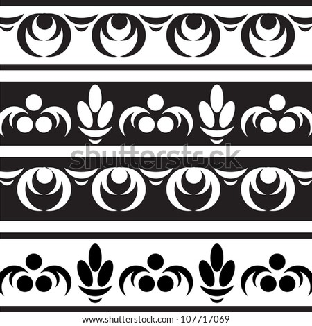 Borders set. Vector images. Grouped for easy editing.