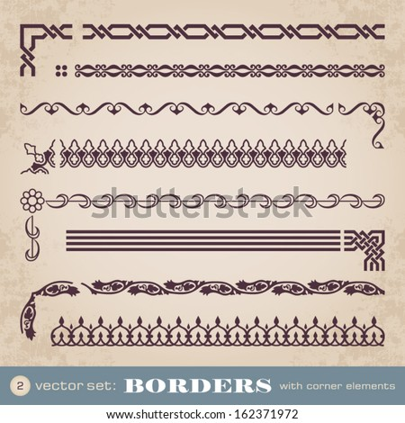 Borders with corner elements set 2