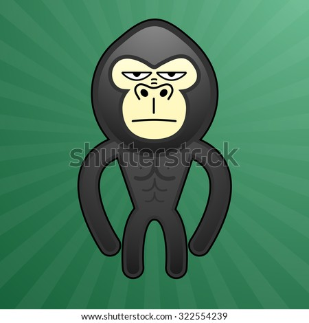 boring face gorilla