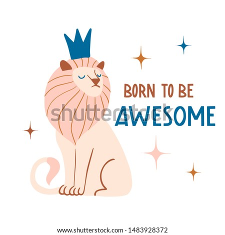 born to be awesome cute hand