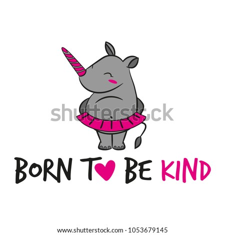 born to be kind' funny vector