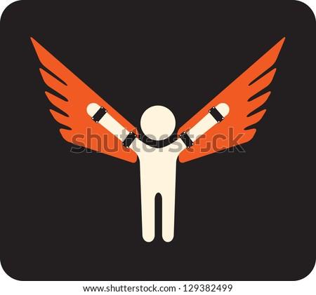 born to fly - symbol