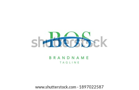 BOS Alphabet initial swoosh Abstract Icon Logo vector illustration Stockfoto ©
