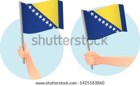 bosnia and herzegovina flag in