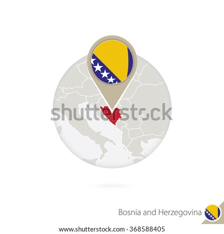 bosnia and herzegovina map and