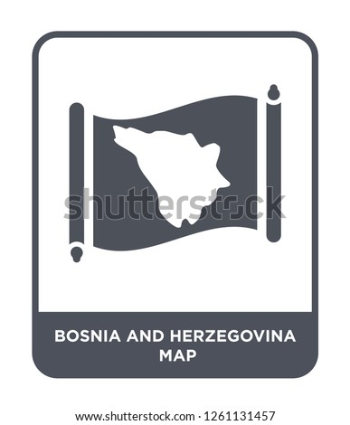 bosnia and herzegovina map icon