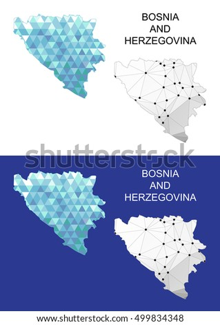 bosnia and herzegovina map in