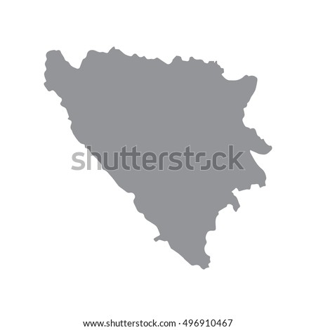 bosnia and herzegovina map in