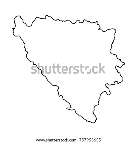 bosnia and herzegovina map of