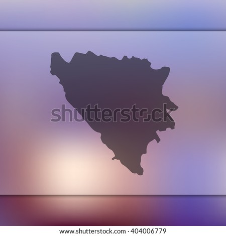 bosnia and herzegovina map on