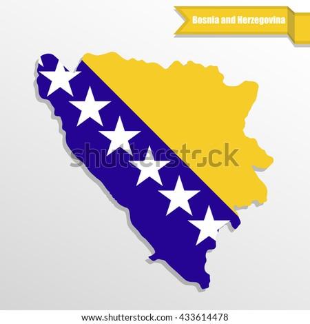 bosnia and herzegovina map with
