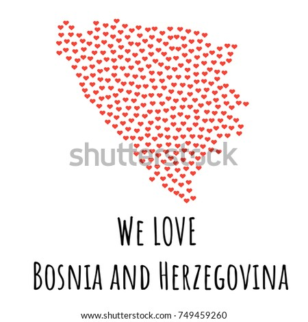 bosnia and herzegovina map with